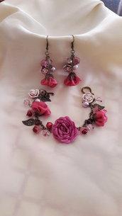 Set orecchini e braccialetto