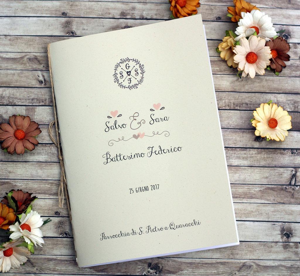 Libretto Messa Matrimonio Country Chic : Libretto messa matrimonio quot spring feste