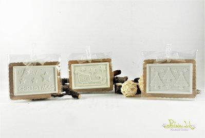Biscotto in legno di okoumè con glassa in gesso ceramico profumato, profuma ambiente - decorazione