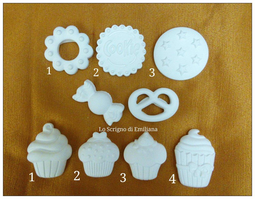 Gessetto profumato cupcake/caramella/biscotto per realizzare bomboniere/segnaposto