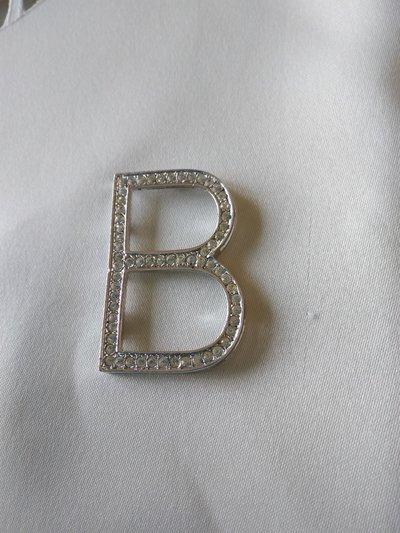 bellissimo ciondolo lettera, iniziale alfabeto,  in argento 925 e strass swarovski