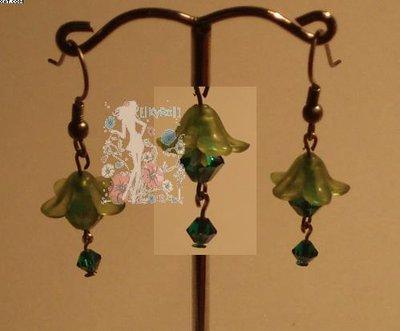 Pendientes Flor Verde
