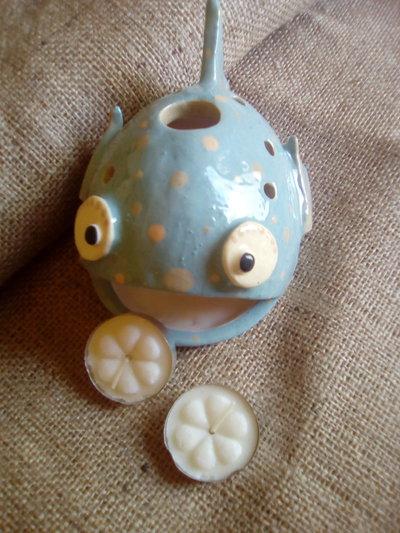 Pesce porta tea light per la casa e per te produzioni - Porta tea light ...