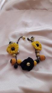 Braccialetto di seta giallo