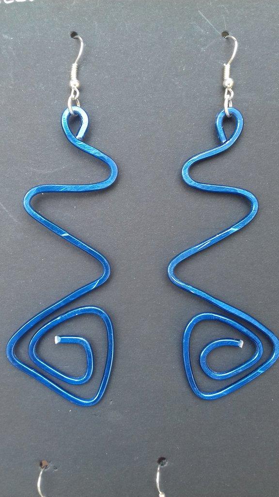 Orecchini alluminio wire