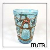 Stupendo vaso in vetro di Murano, firmato Formentello!