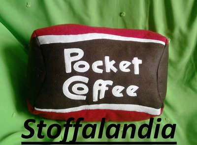 POCKET COFFEE CUSCINO IDEA REGALO