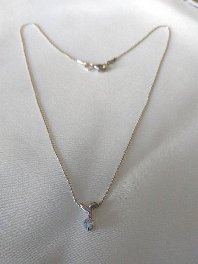 collana con catena in argento 925 e ciondolo con zircone