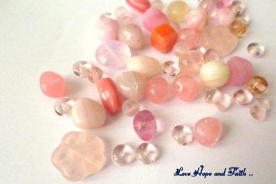 """LOTTO 50 gr perle in vetro di Bohemia """"Bohemia Rosa"""" (cod.PRECIOSA)"""