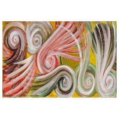 dipinto astratto acrilico su tela: I Vortici