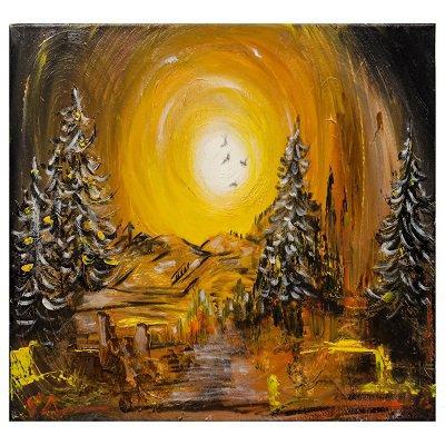 Dipinto Paesaggio montano