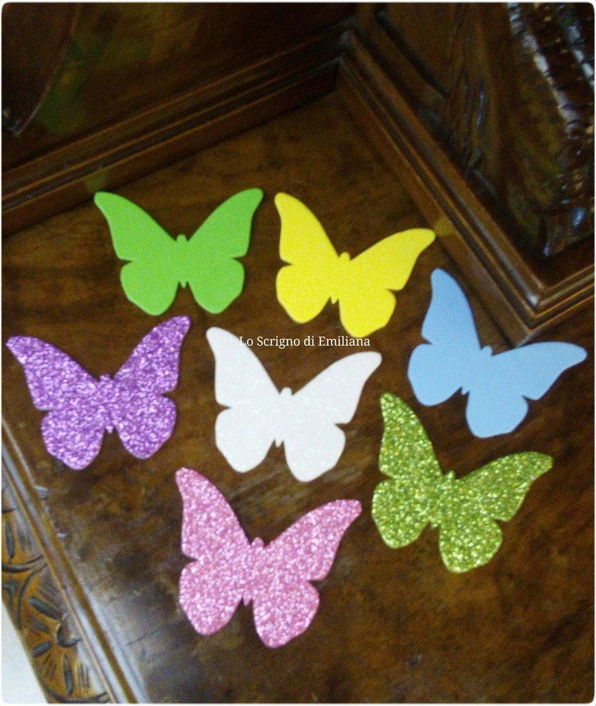 Farfalle fustellate gomma crepla