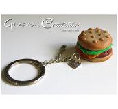 Portachiavi panino hamburger