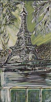 Torre Eiffel  - Parigi - 60x30 olio su tela