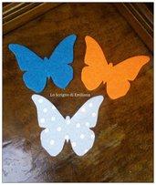 Farfalle fustellate pannolenci