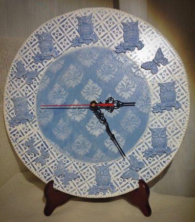 """Orologio da parete """"Gufetto in blu"""""""