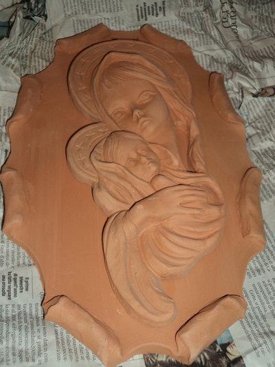 Oggetti per decoupage in terracotta