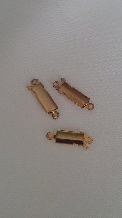 1 x chiusura fermaglio per collana, in metallo dorato