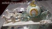 Cake topper/decorazione carrozza + cavalli