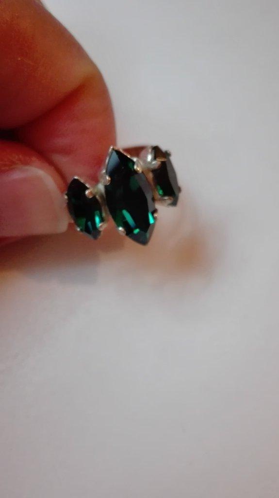 Anello swarosvky verde smeraldo