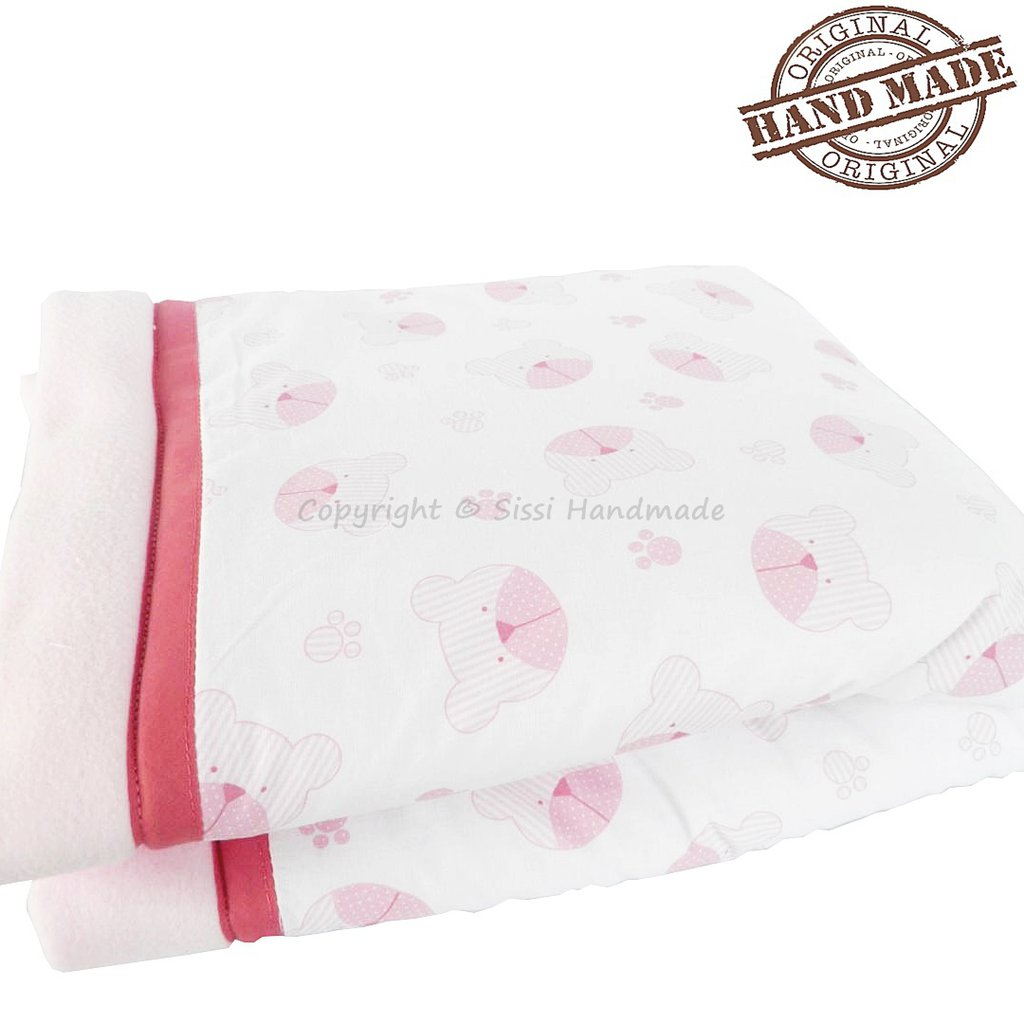 Coperta neonato in pile rosa ideale per l'inverno
