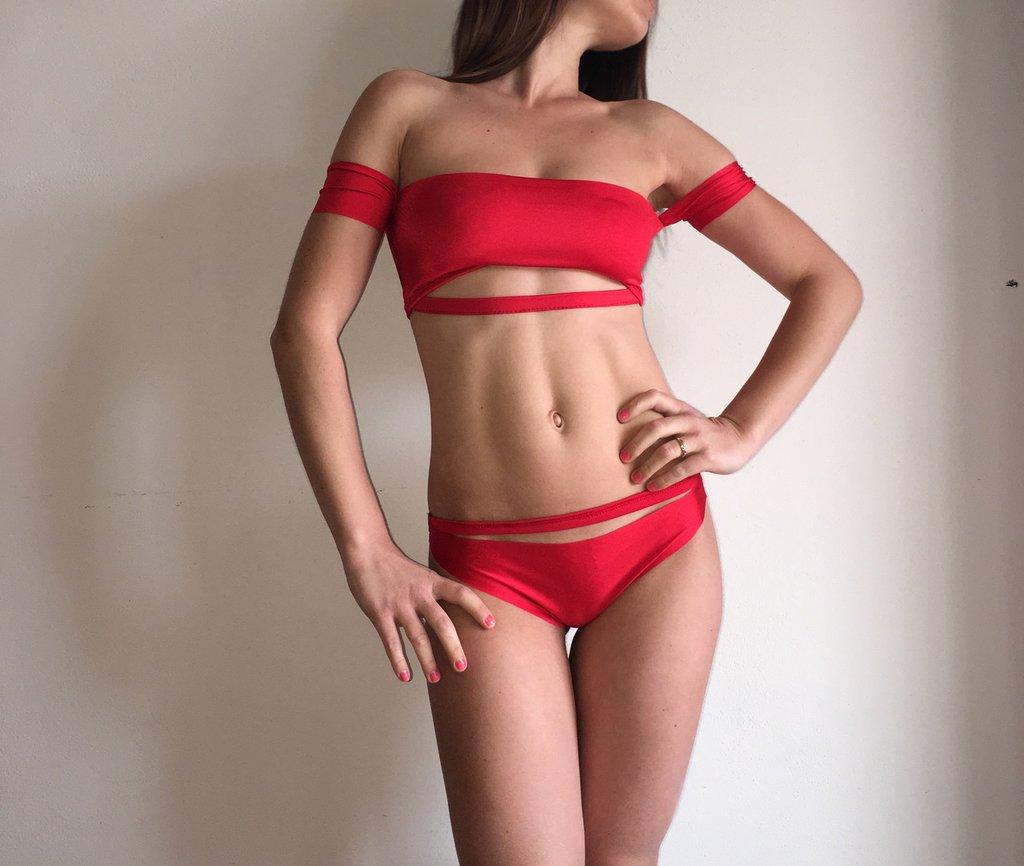 bikini donna costume da bagno mare estate taglio laser taglia unica
