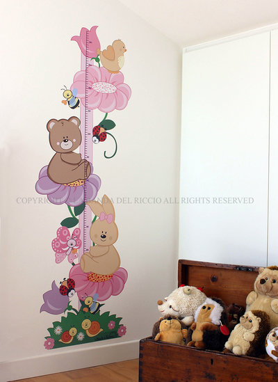 Il Metro Fiore adesivi da muro per la camera dei tuoi bambini