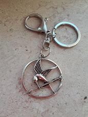 Portachiavi Ghiandaia Imitatrice Argento Hunger Games