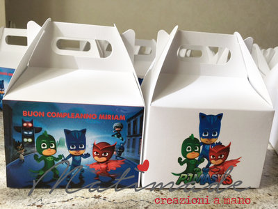 SCATOLE PIC NIC PER COMPLEANNO - PJMASKS