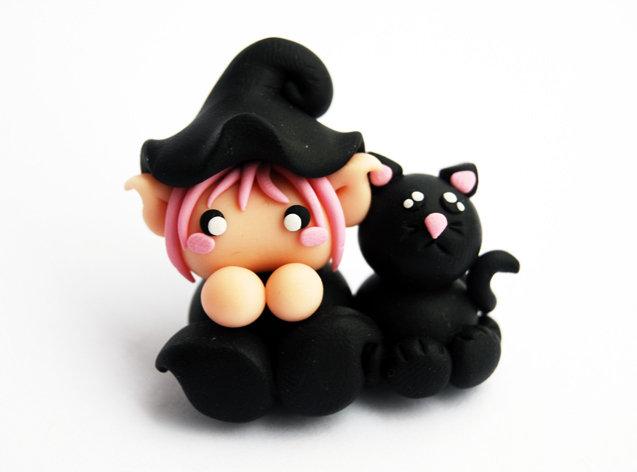 Soprammobile Malfolletto e gatto nero