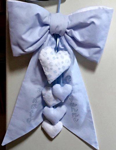 Fiocco imbottito per la nascita del bimbo- handmade