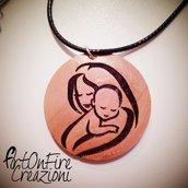 Ciondoli maternità in legno