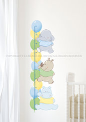 I Palloncini Metro crescita  per la camera dei tuoi bambini