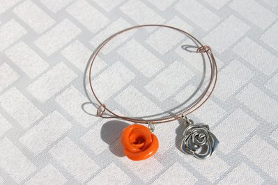 Bracciale armonico rosa arancione