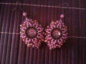 Orecchini color rosa/bronzo