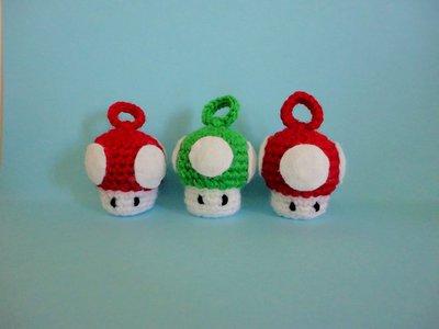 Super Mario bomboniere/portachiavi - mushroom realizzati a mano