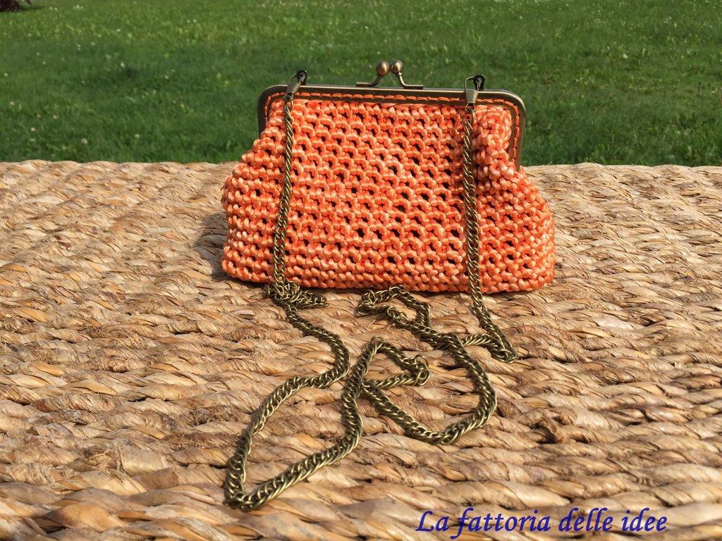 Pochette clic clac arancio