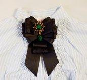 Spilla-Cravatta nero vintage