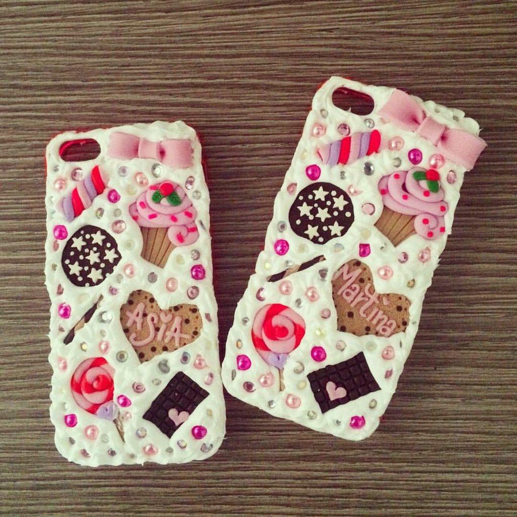 Bellissime Cover for friend iphone e galaxy con dolcetti cioccolata rosa e fiocco
