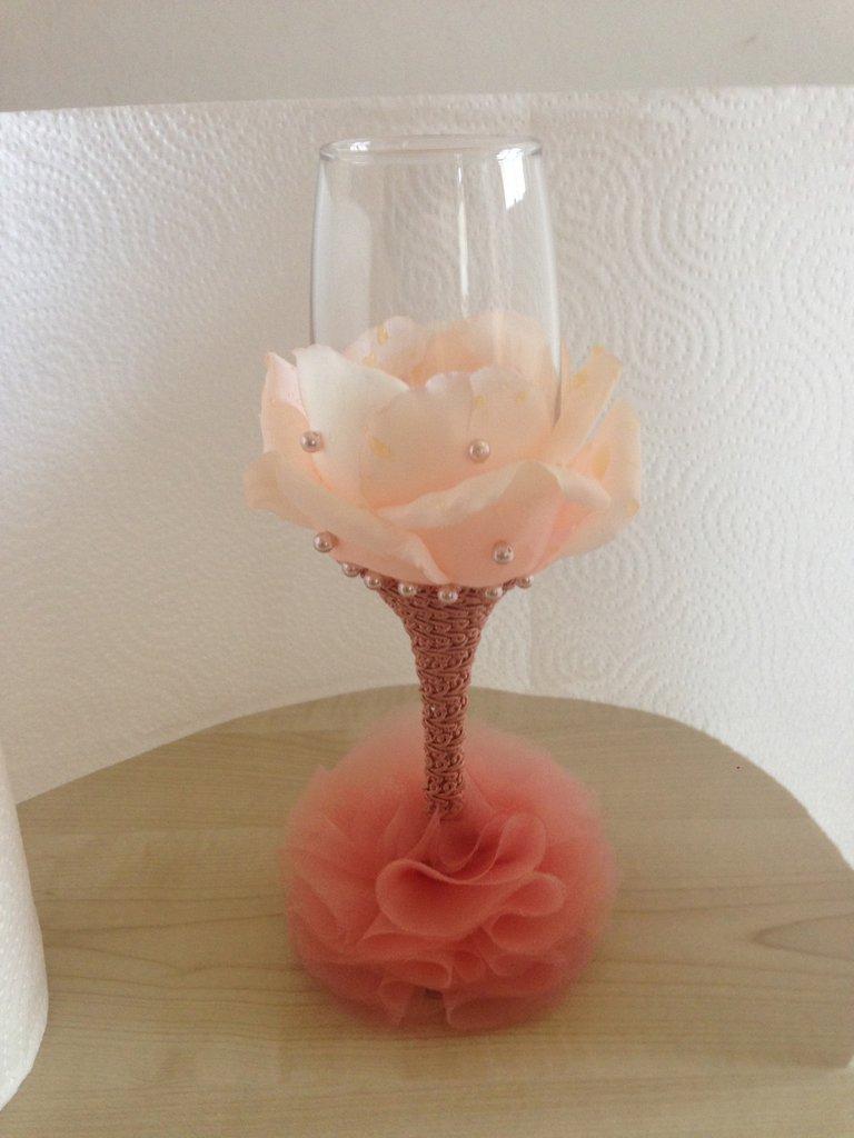 Bicchiere personalizzato PETALO  ROSA ANTICO, per evento speciale.