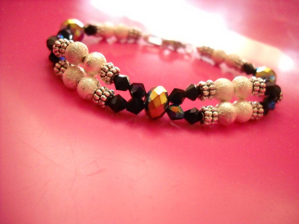 bracciale swaroski e perle