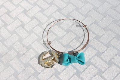 Bracciale armonico fiocco azzurro