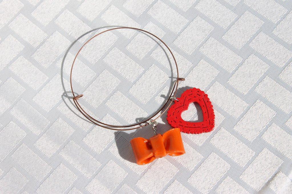 Bracciale armonico fiocco arancione