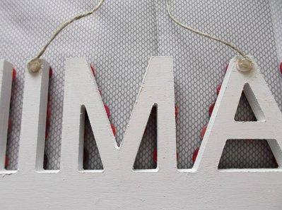 Lettere Di Legno Da Appendere : Portafoto in legno da appendere decorato con bottoni e lettere in