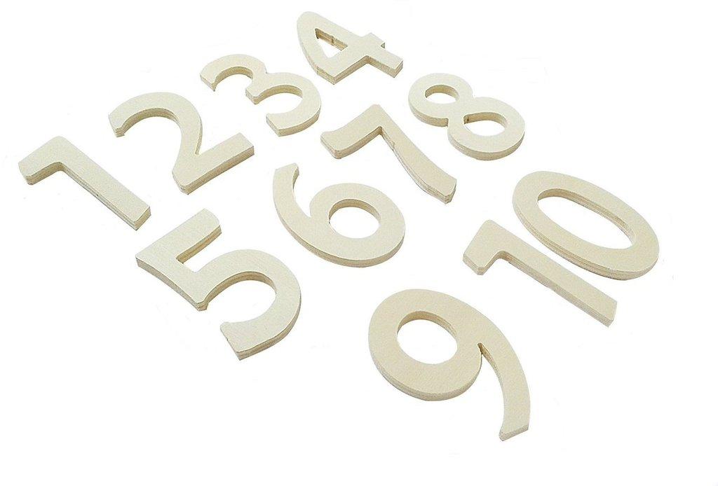 Numeri in legno per il fai da te o decoupage 11 pz