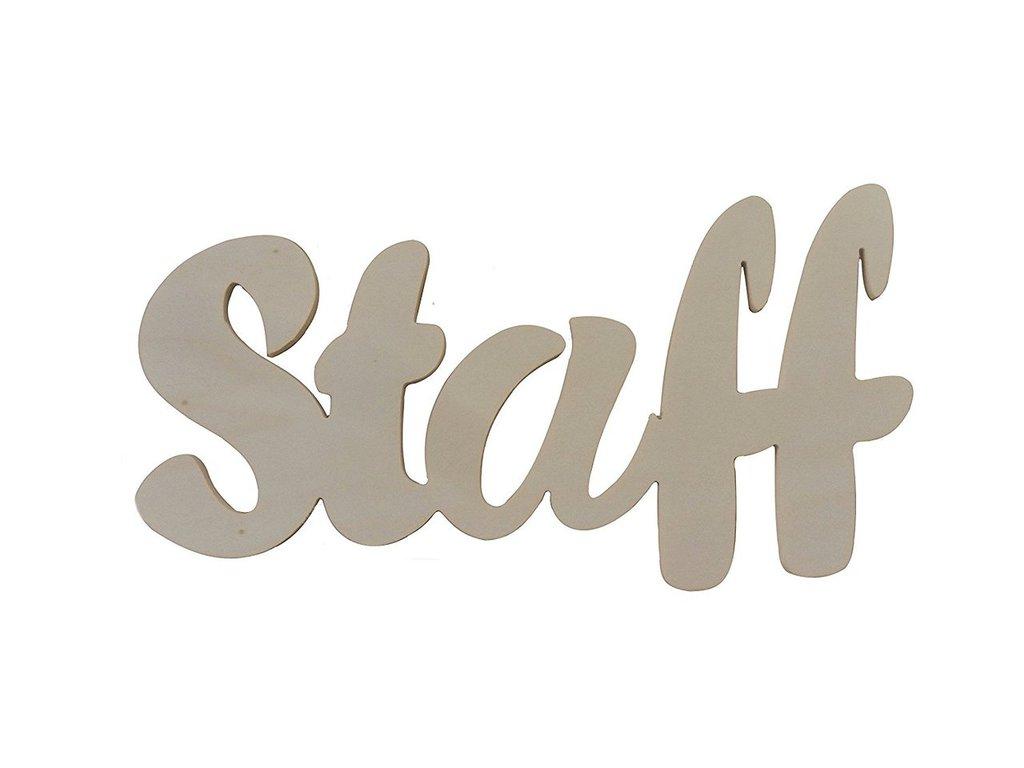 Insegna staff , targhetta in legno da decorare