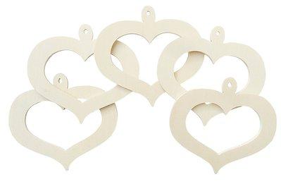 Cuori in legno traforati Fai da te San Valentino 10 pz cm 8 x 11
