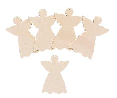 Angioletti angeli in legno da decorare 10 pz cm 8 x 11