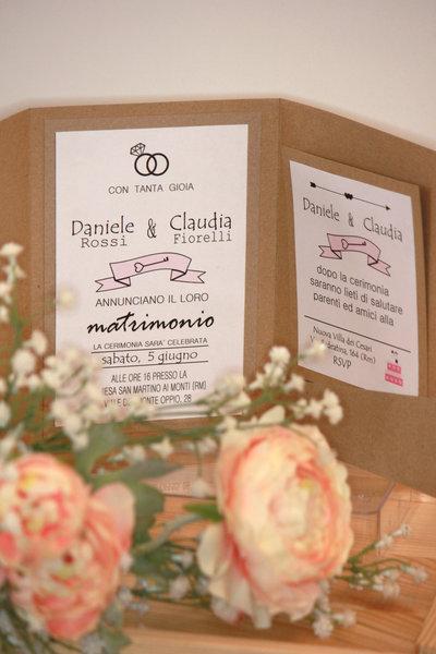 Partecipazioni Matrimonio Chic.Partecipazioni Nozze Country Chic Feste Matrimonio Di Rs