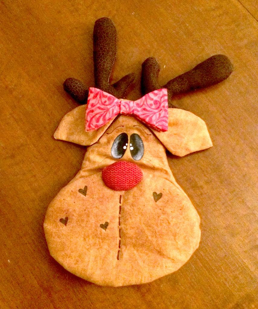 Presina natalizia a forma di renna